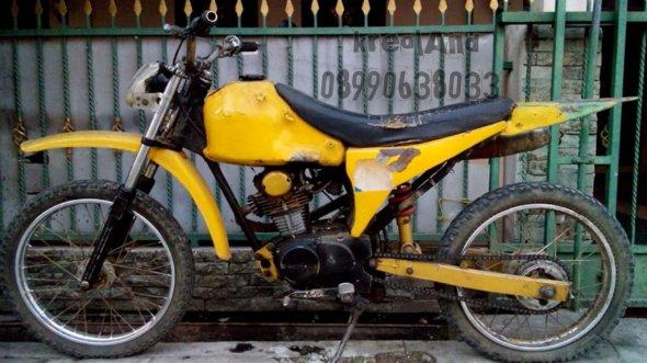 honda cb100 tahun 1973 modif bentuk trail monosok surat lengkap letter B TAngerang